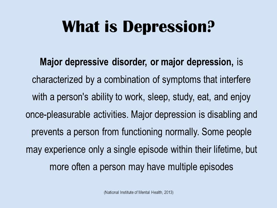 Treatment-Depression Medication Treatment How long is the patient likely to live.