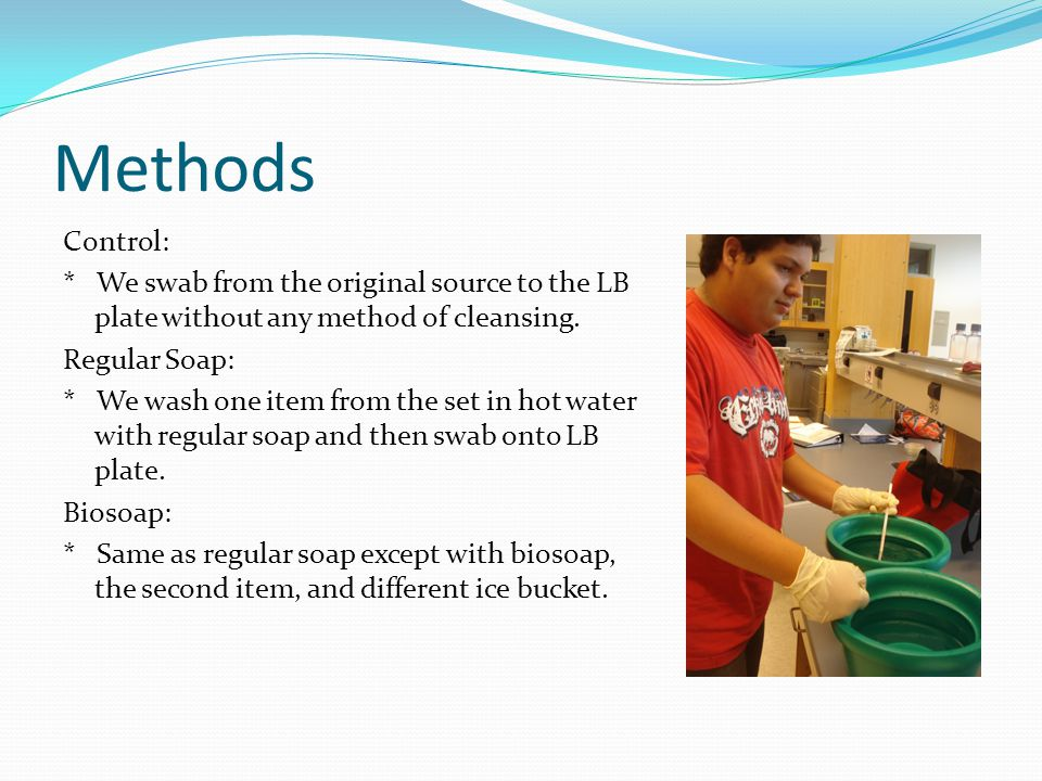 Leah's Toy Results ControlRegular SoapBiosoap