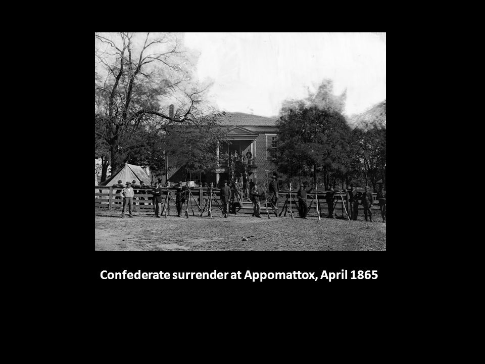 Confederate surrender at Appomattox, April 1865