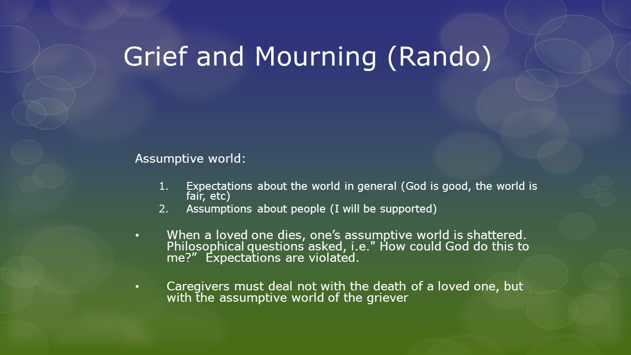 Disenfranchised Grief Grief experienced when loss cannot be openly acknowledged, socially sanctioned or publicly shared.