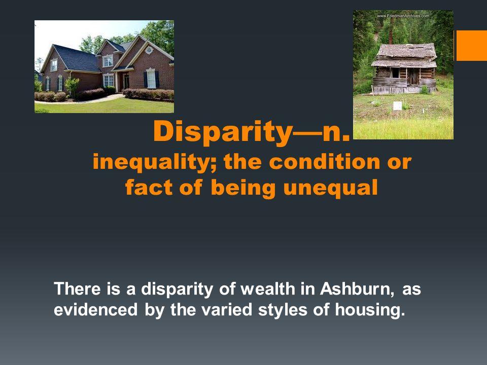 Disparity—n.