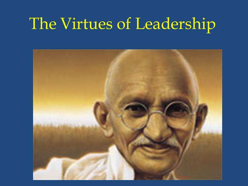 The Virtues of Leadership