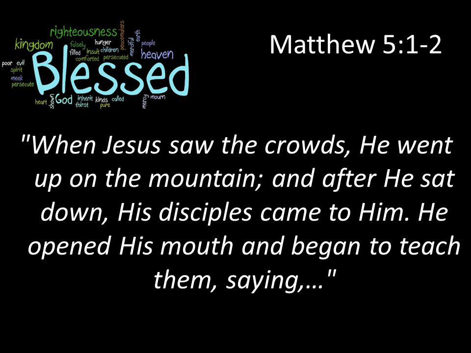 Matthew 5:1-2