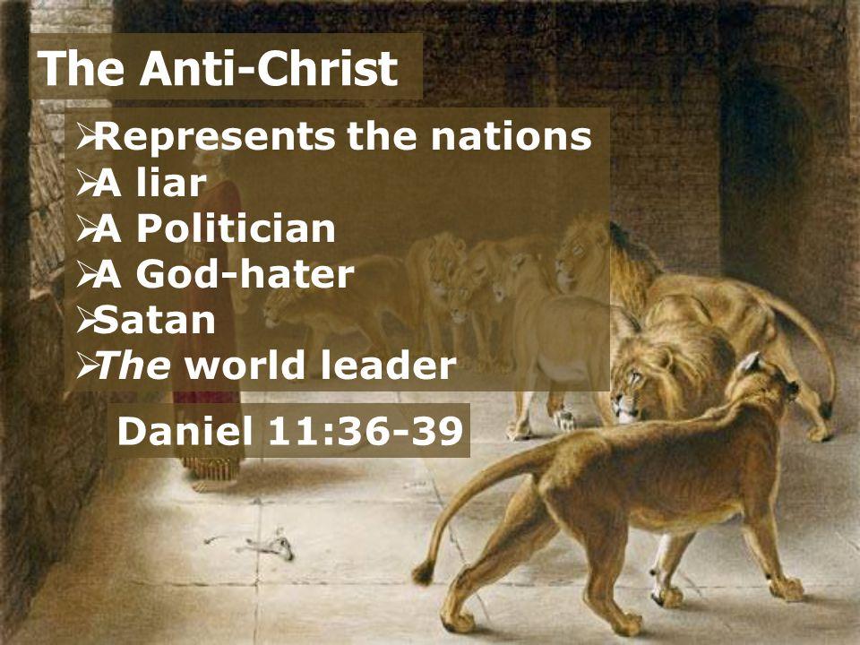  War The Tribulation Period Matthew 24:6 Daniel 11:22 Revelation 13:7 Daniel 11:40-45 Daniel 7:21; 8:24 Daniel 11:25-28