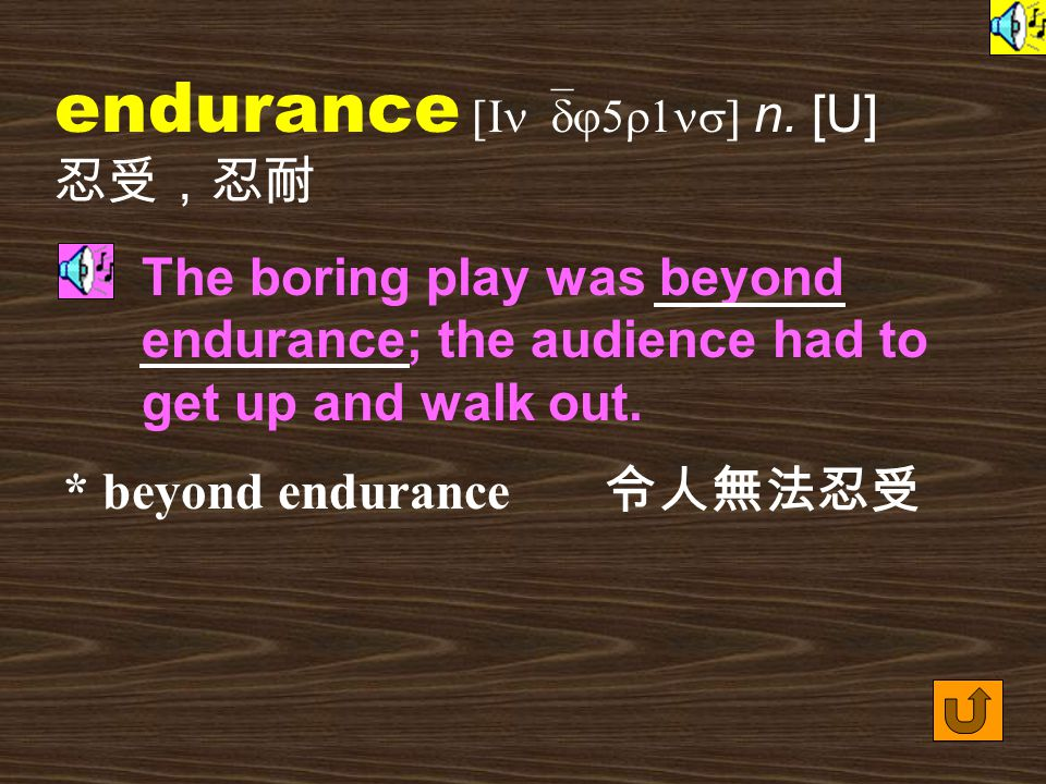 Words for Production 8. endure [In`dj5r] vt.