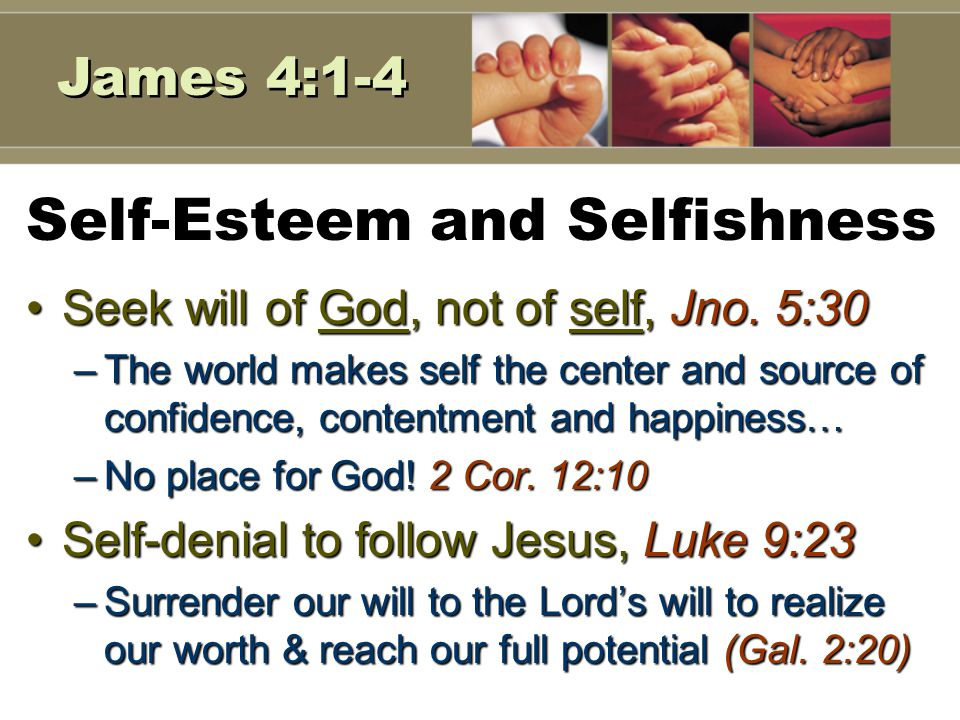 6 Self-Esteem and Self-Importance Valuable to God, Matthew 10:27-31Valuable to God, Matthew 10:27-31 –Created in the image of God, Gen.