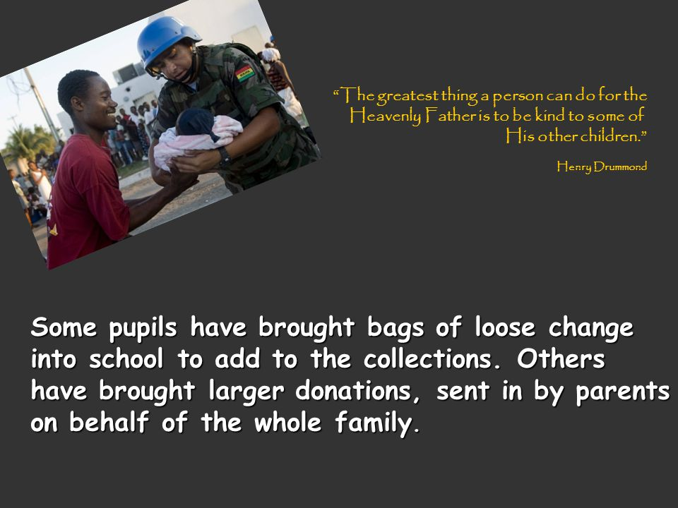 Others have checked their pockets, taken what they need for bus fares and given the rest to the relief effort.