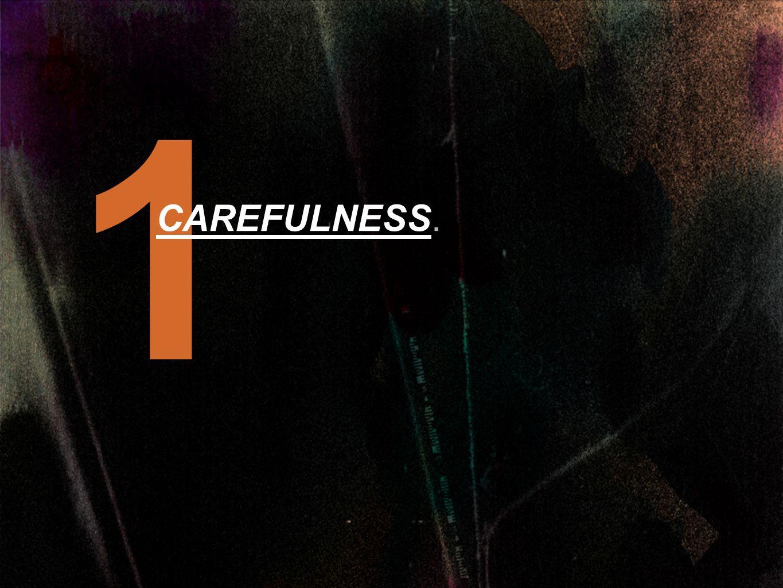 1 CAREFULNESS.