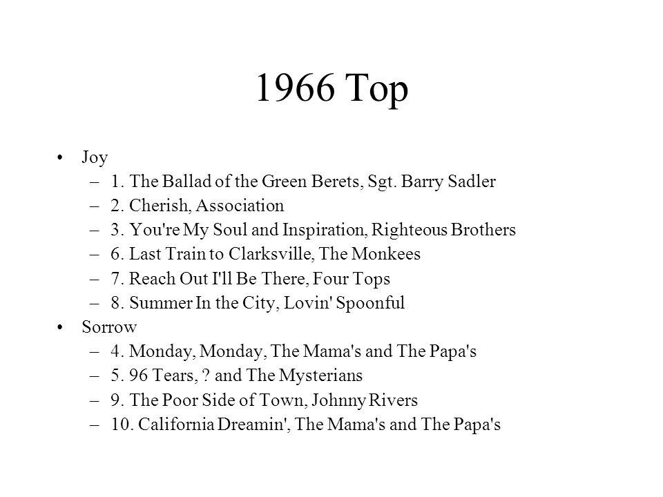 1966 Top Joy –1. The Ballad of the Green Berets, Sgt.