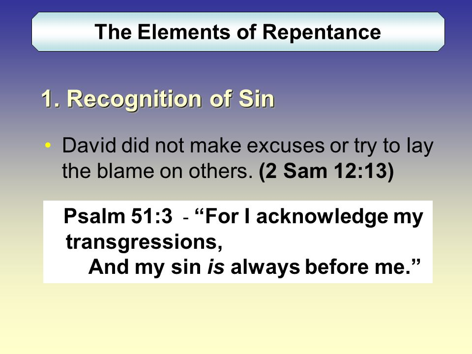 The Elements of Repentance 1.