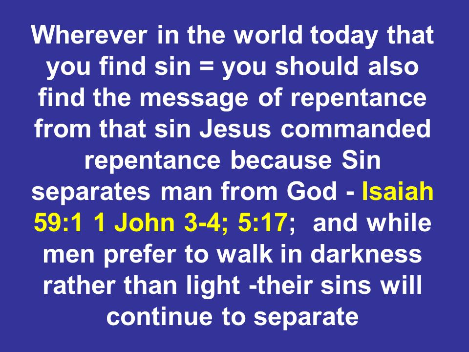 Peter said: 2 Peter 3:9 The Lord is not slack concerning His promise, as some count slackness, but is longsuffering toward us, not willing that any should perish but that all should come to repentance.