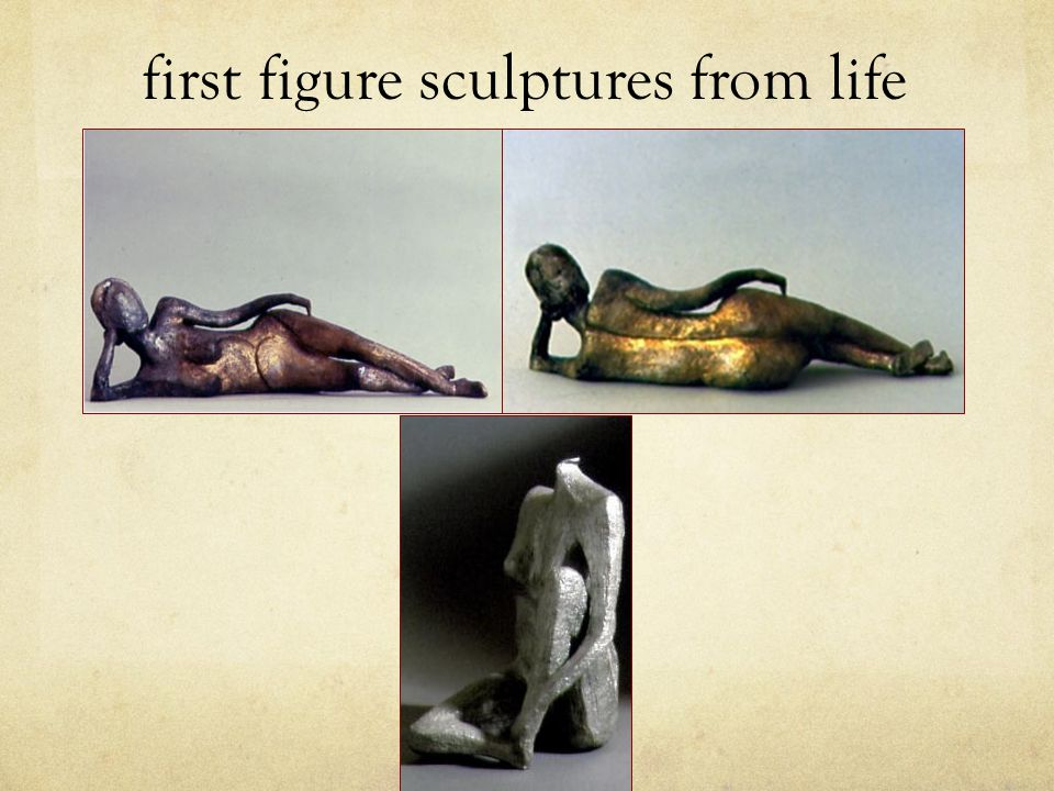first figure sculptures from life