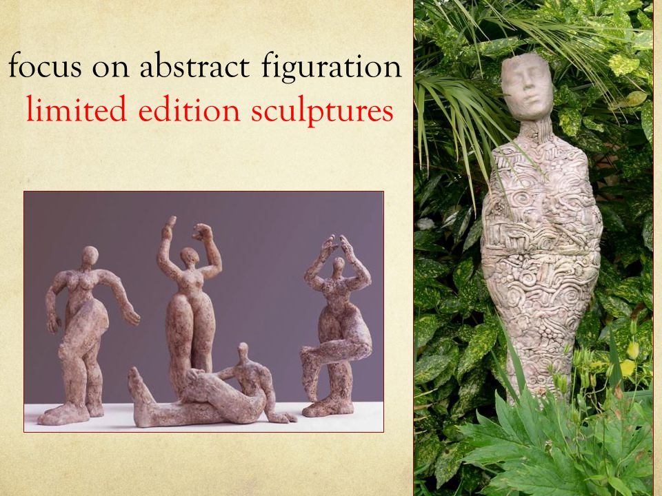 focus on abstract figuration limited edition sculptures