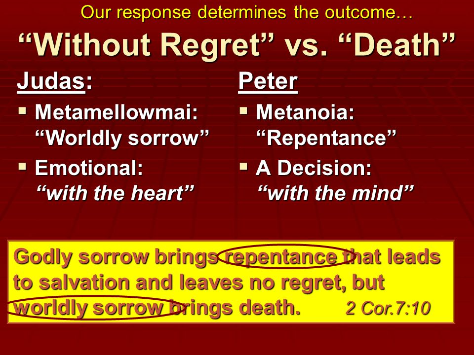 Without Regret vs.