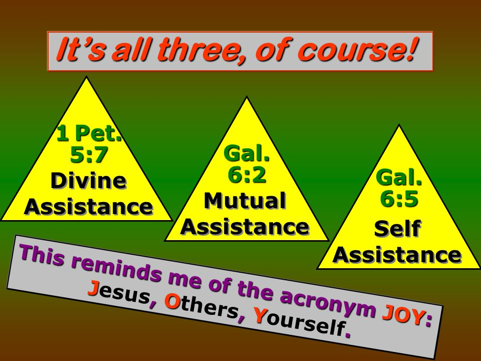 It's all three, of course. Divine Assistance 1 Pet.
