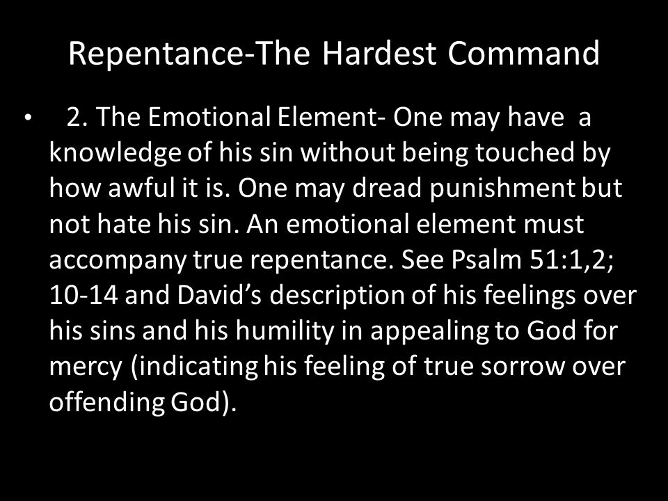 Repentance-The Hardest Command 2.