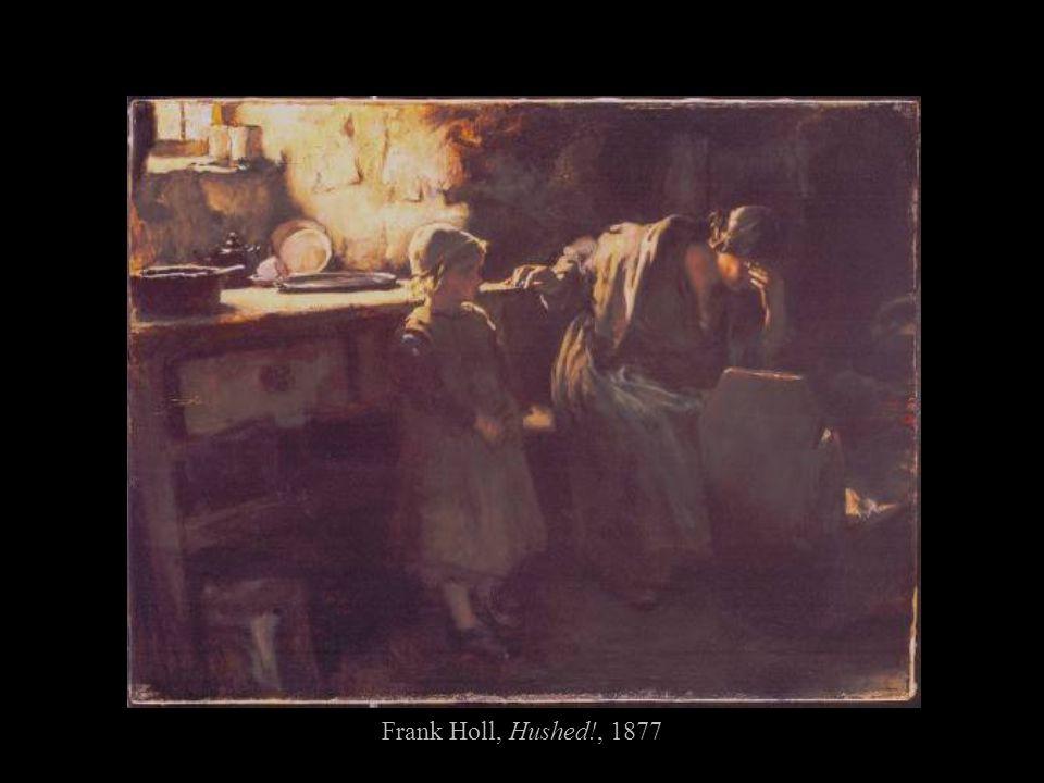 Frank Holl, Hushed!, 1877