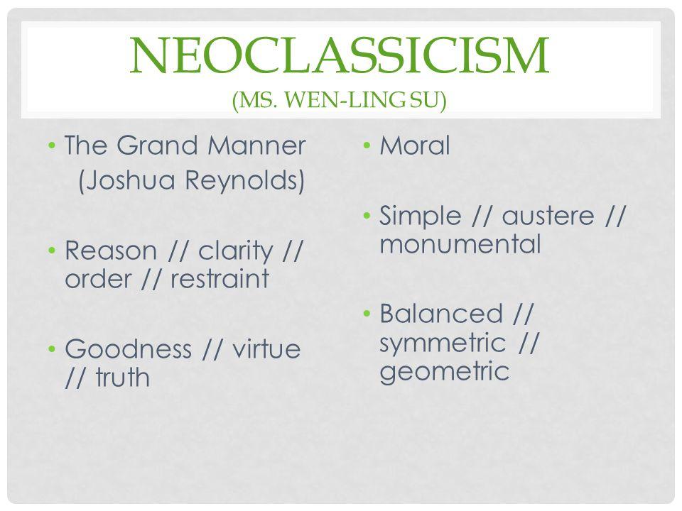 NEOCLASSICISM (MS.