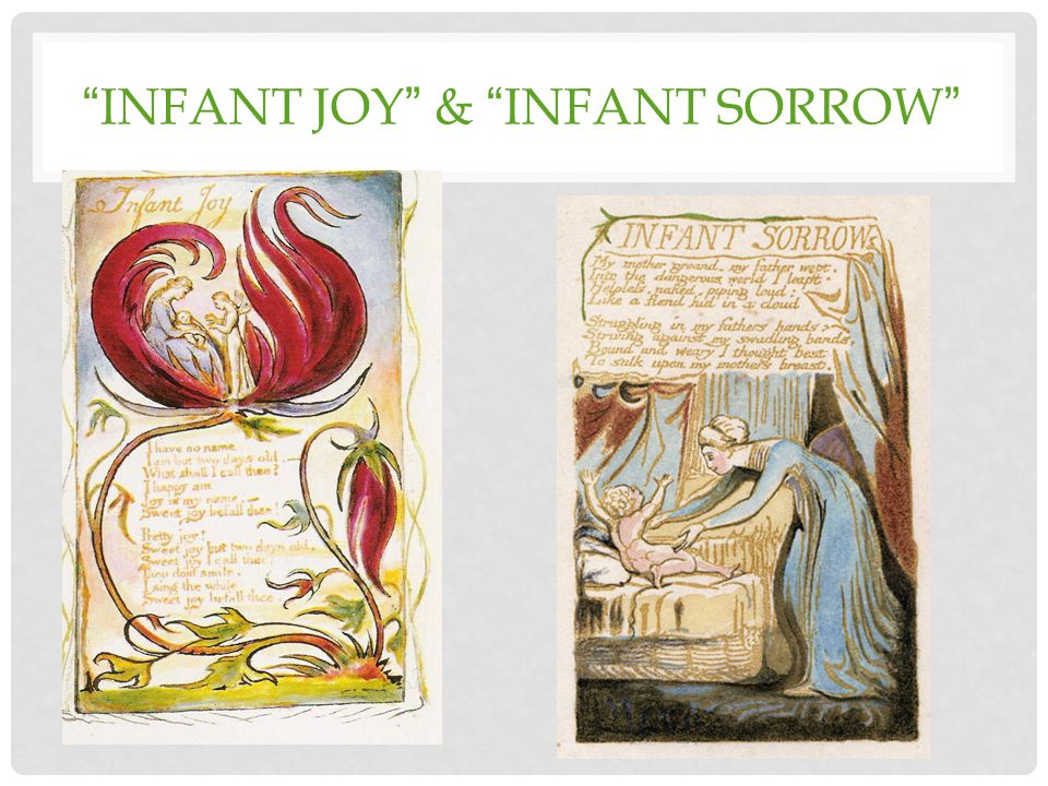 INFANT JOY & INFANT SORROW