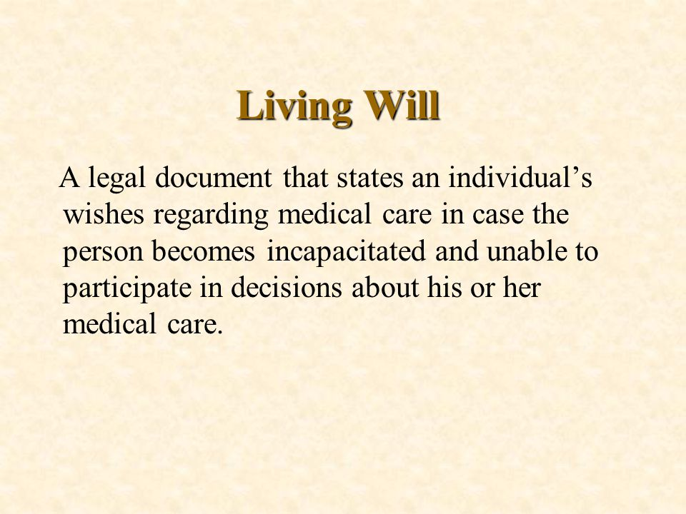 The Right-to-Die Movement n Physician-Assisted Suicide n Trend: basing decisions less on legalistic interpretations regarding specific treatments and more on balancing benefits on a case- by-case basis n Euthanasia: Mercy killing