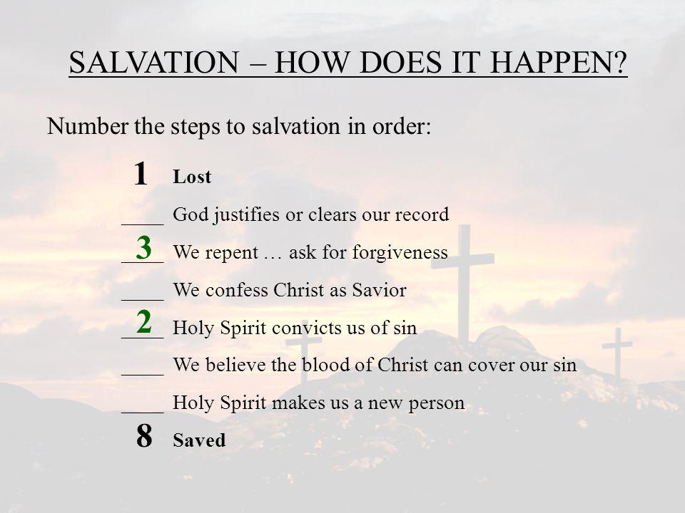 2 1 8 3 4 SALVATION – HOW DOES IT HAPPEN.