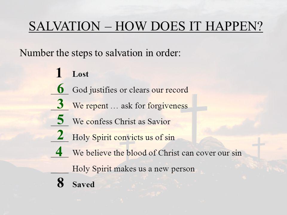 2 1 8 3 4 5 6 7 SALVATION – HOW DOES IT HAPPEN.