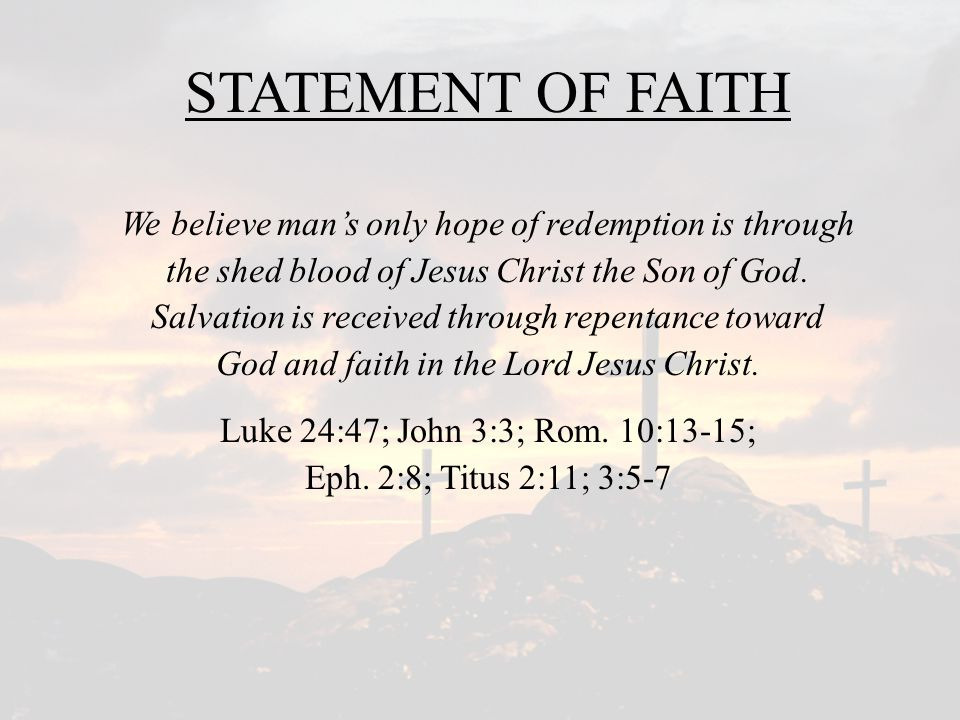 SALVATION – A NEEDED PLAN! Which Bible doctrine is the most important?