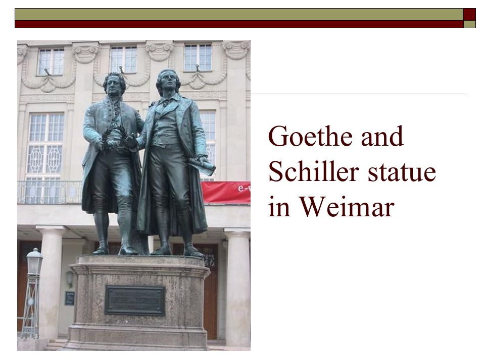 Goethe and Schiller statue in Weimar