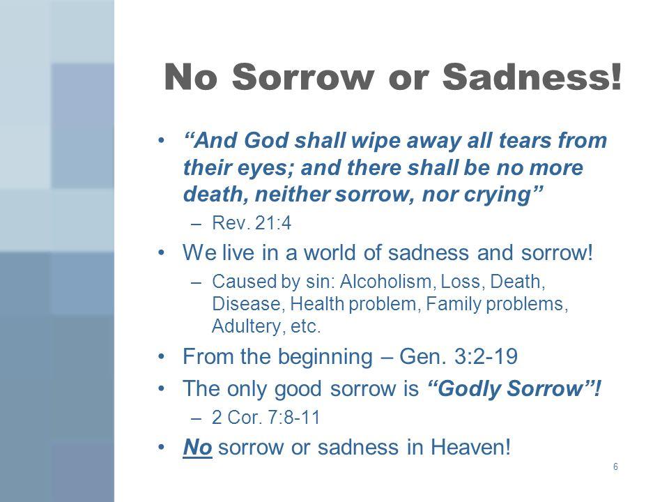 6 No Sorrow or Sadness.