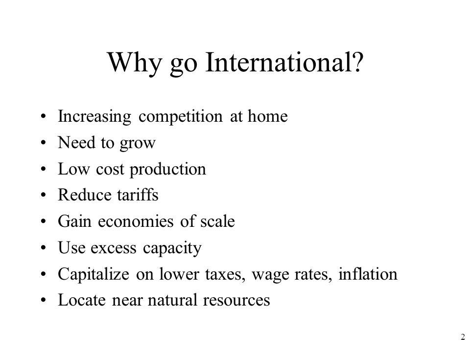2 Why go International.