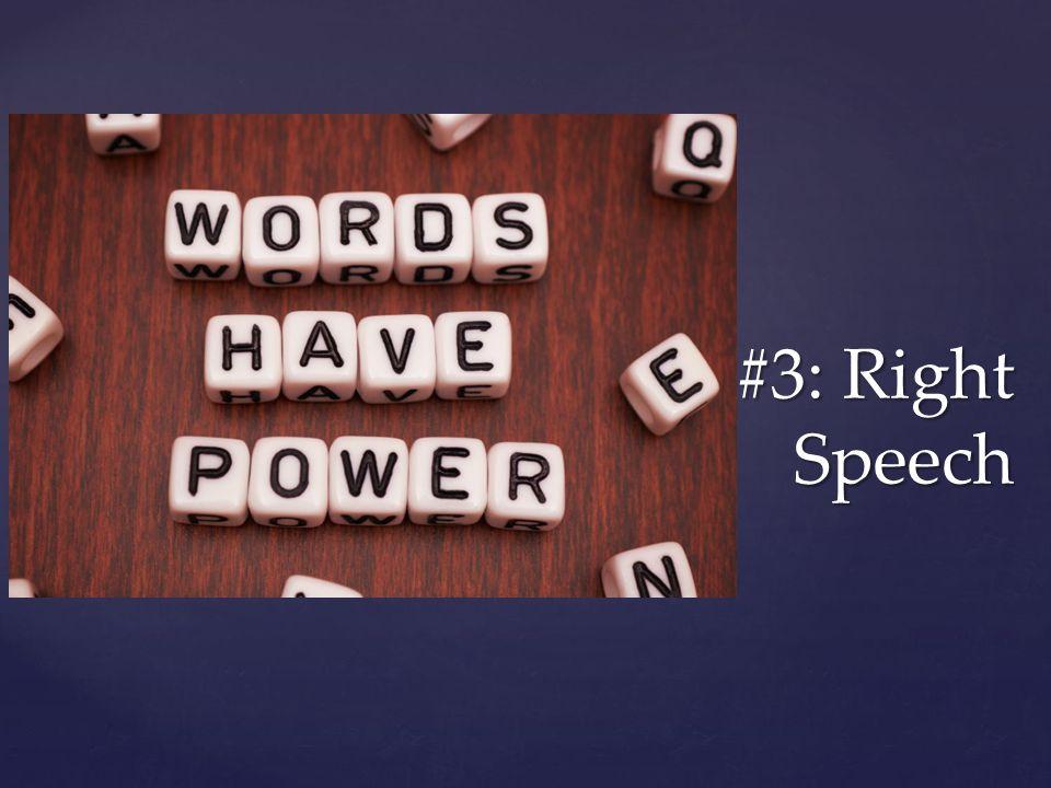 #3: Right Speech