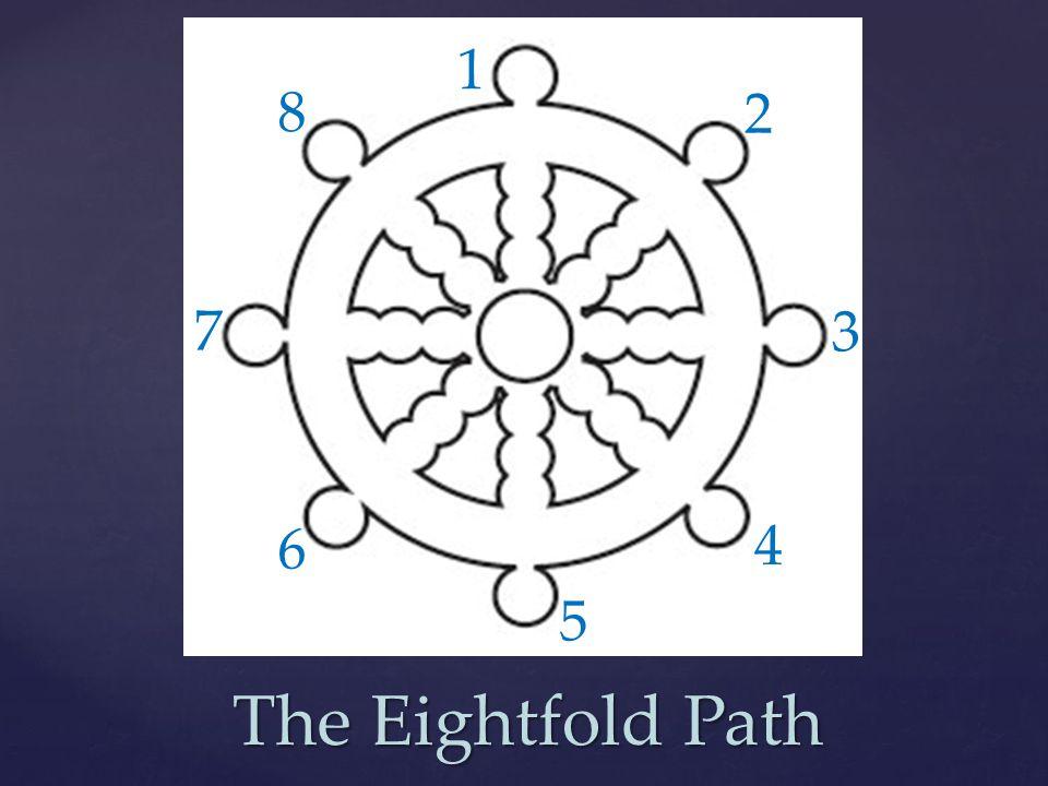 The Eightfold Path 1 2 3 4 5 6 7 8