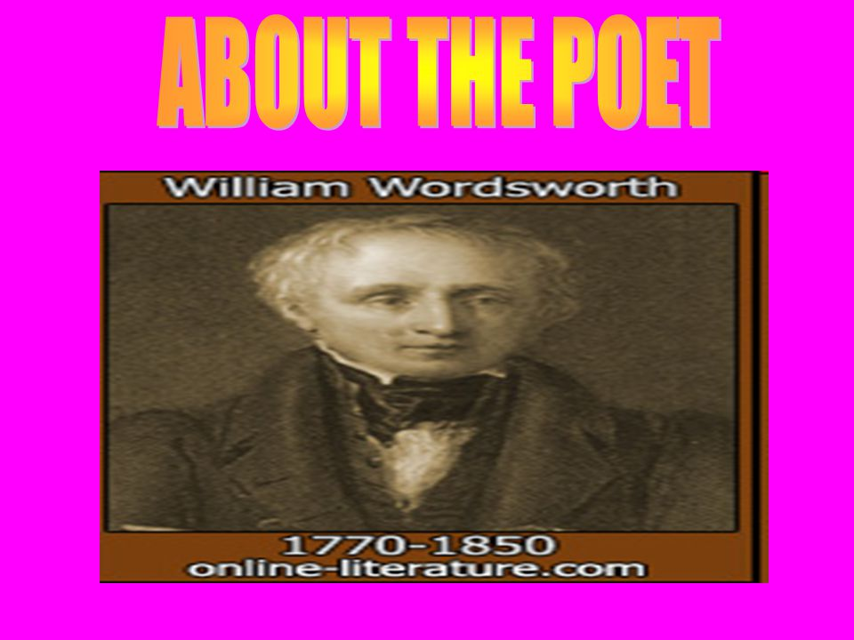 William Wordsworth (1770- 1850), British poet, credited with ushering in the English Romantic Movement with the publication of Lyrical Ballads(1798) in collaboration with Samuel Taylor Coleridge.Samuel Taylor Coleridge