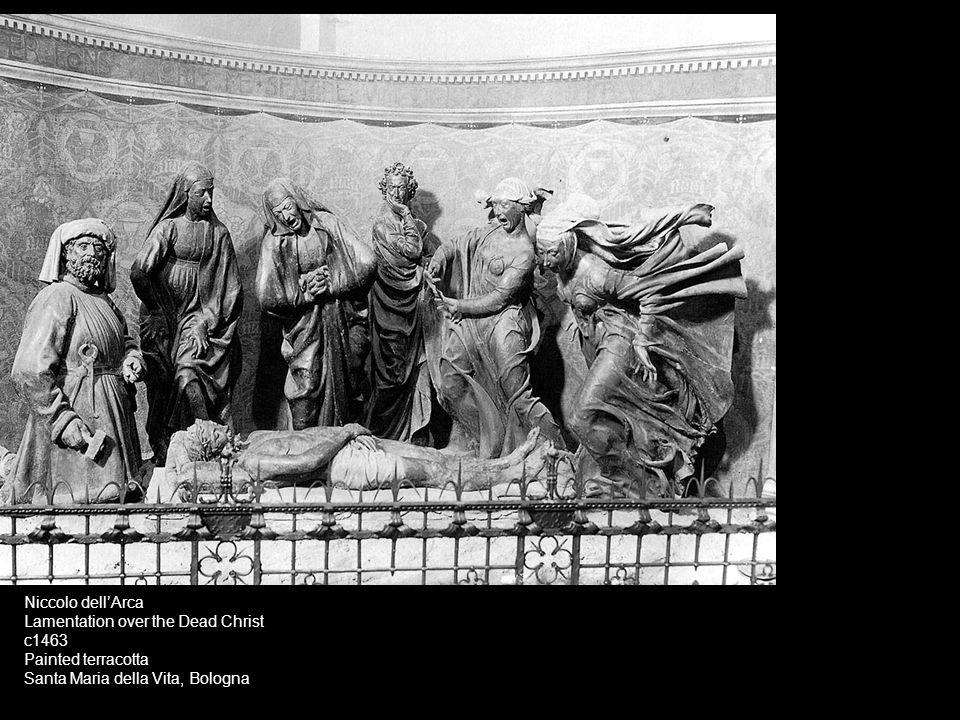 Niccolo dell'Arca Lamentation over the Dead Christ c1463 Painted terracotta Santa Maria della Vita, Bologna