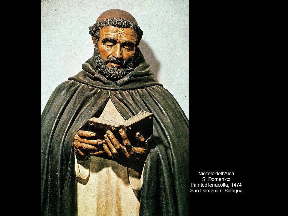 Niccolo dell'Arca S. Domenico Painted terracotta, 1474 San Domenico, Bologna