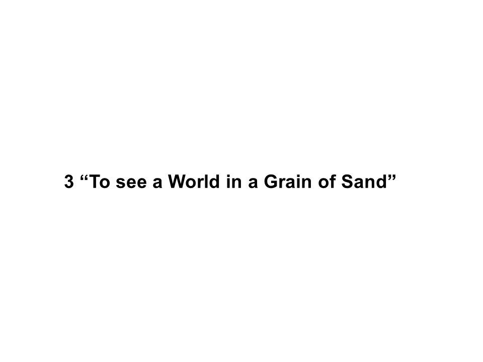 3 To see a World in a Grain of Sand