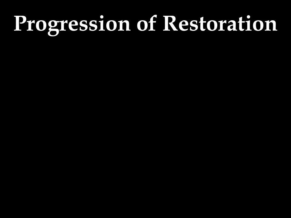 Progression of Restoration