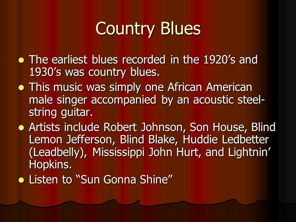 Slide Guitars Son House Robert Johnson
