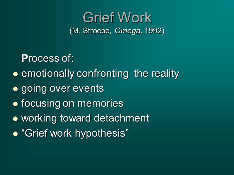 Grief Work (M.