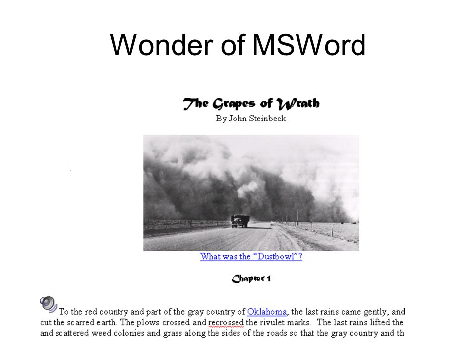 Wonder of MSWord