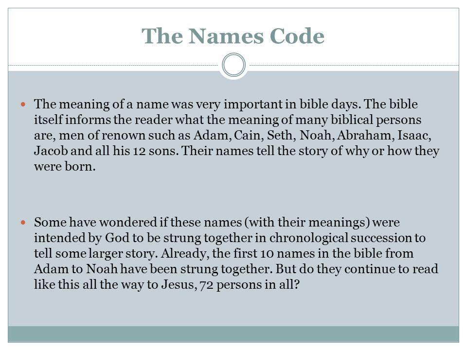 Meanings of first 10 names from Adam to Noah read sequentially [Part 1] The God-man is appointed, a mortal man of sorrow is born.