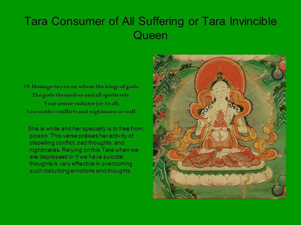 Tara Consumer of All Suffering or Tara Invincible Queen 19.