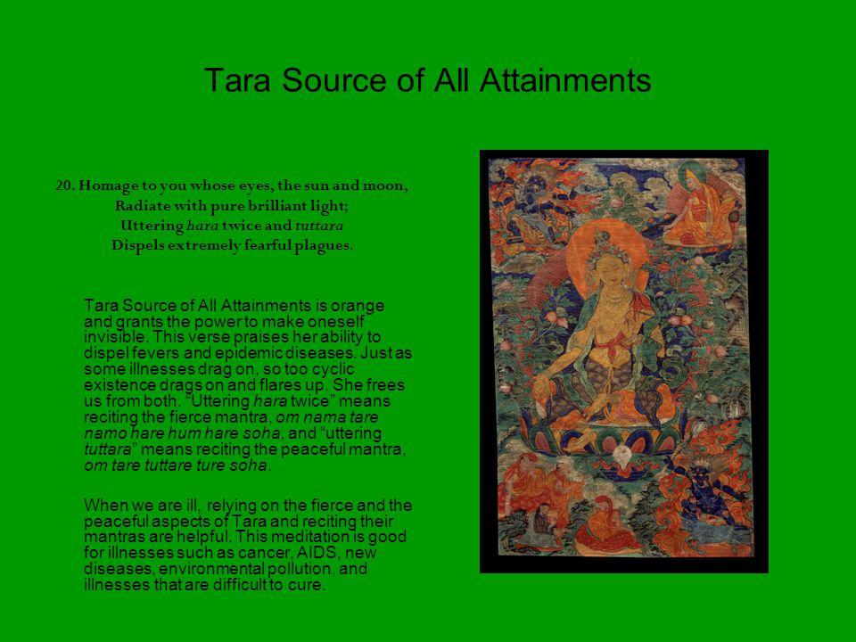 Tara Source of All Attainments 20.