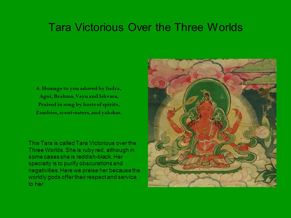 Tara Victorious Over the Three Worlds 6.