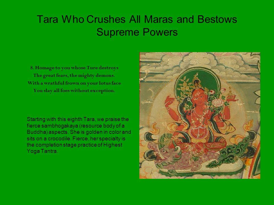 Tara Who Crushes All Maras and Bestows Supreme Powers 8.