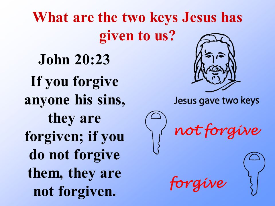 What are the two keys Jesus has given to us.