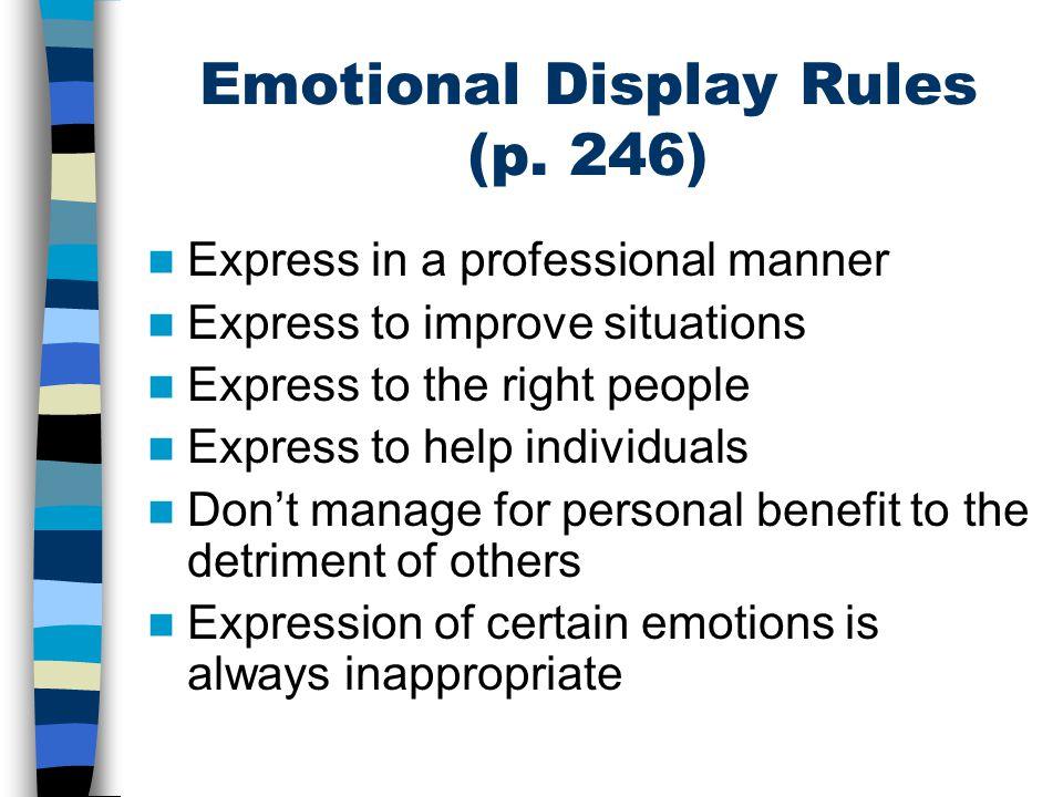 Emotional Display Rules (p.