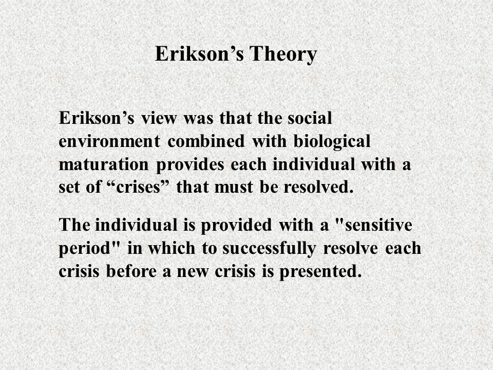 Bingham & Stryker's Theory Bingham and Stiker propose five stages of socioemotional development for girls and women that parallels those proposed by Erikson, but places different emphases at important sensitive time periods.