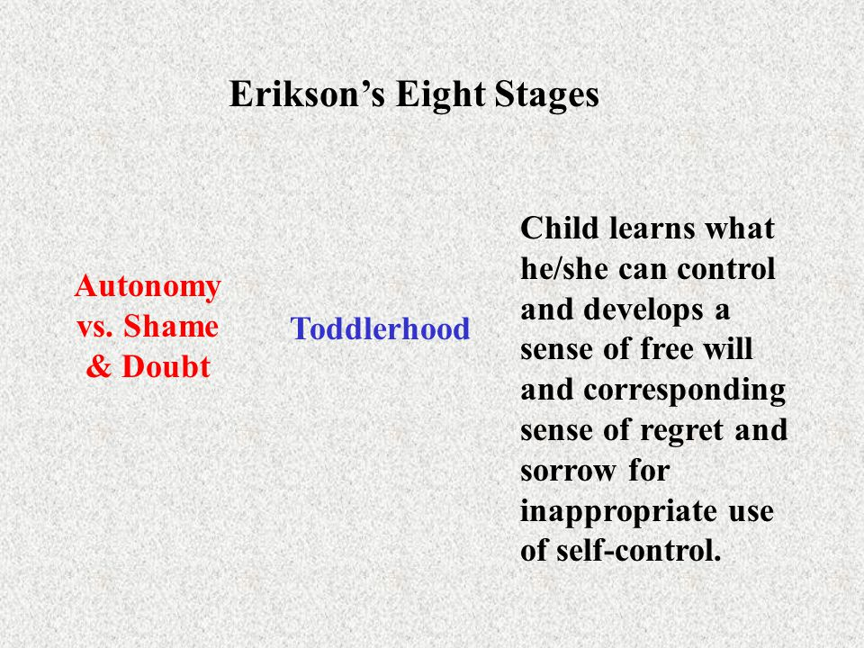 Erikson's Eight Stages Initiative vs.