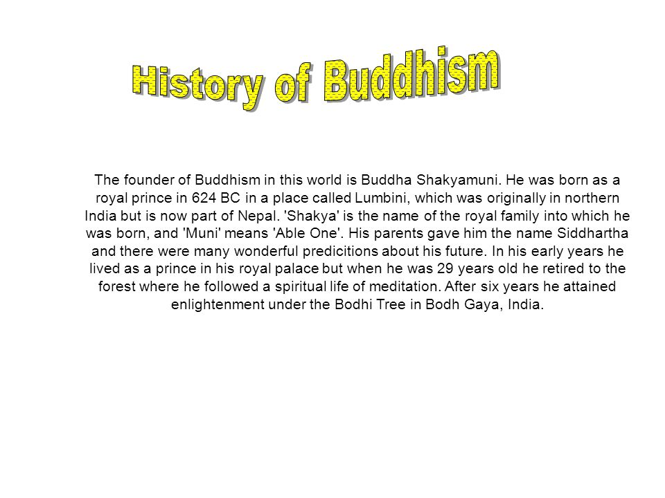 The founder of Buddhism in this world is Buddha Shakyamuni.